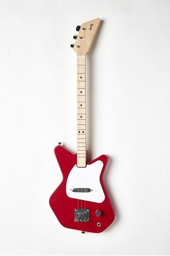 guitarra eléctrica loog pro color roja de 3 cuerdas
