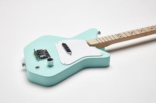 guitarra eléctrica loog pro color verde de 3 cuerdas
