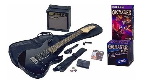 guitarra electrica pack yamaha erg121 black