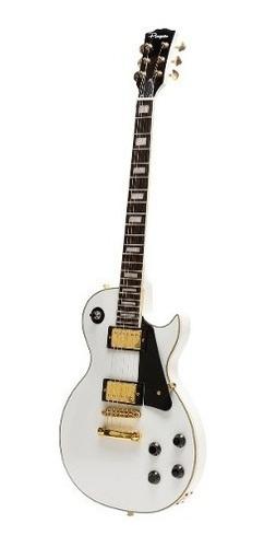 guitarra electrica parquer les paul blanca con funda