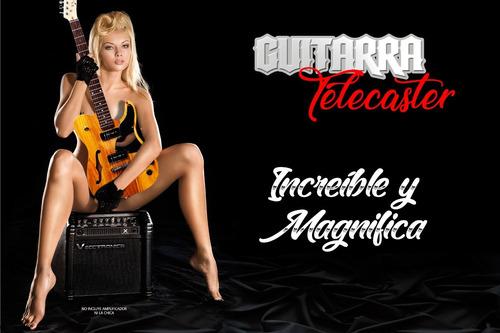 guitarra eléctrica profesional tipo telecaster thinline 2018