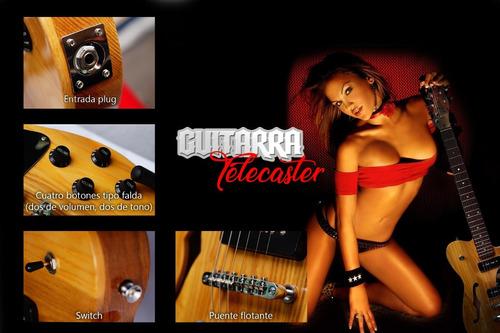 guitarra eléctrica profesional tipo telecaster thinline