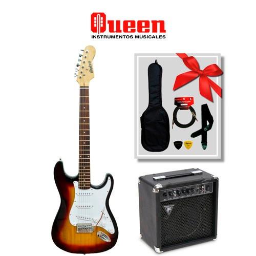 guitarra eléctrica ranger stratocaster + amp. freeman