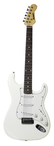 guitarra electrica rmc tipo strato color blanco