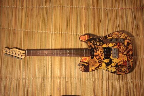 guitarra electrica squier fender telecaster obey rustic worn