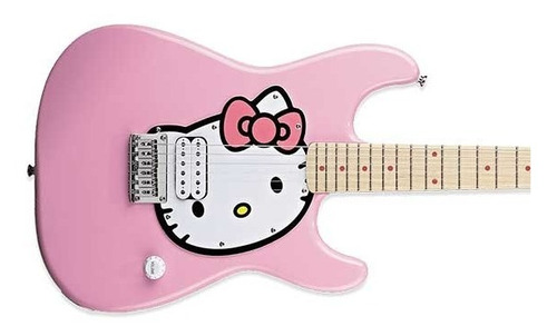 guitarra electrica squier hello kitty