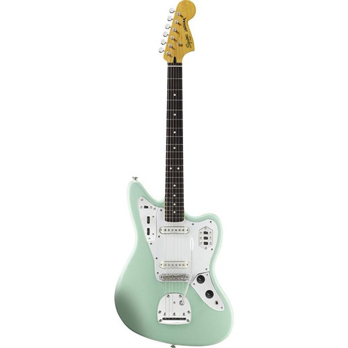 guitarra eléctrica squier jaguar vintage modified surf green