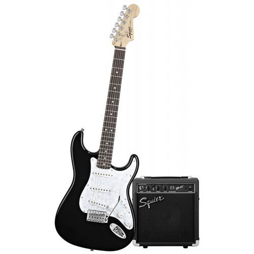 guitarra electrica squier strat amplificador sp10 by fender