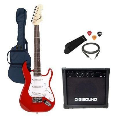 guitarra electrica squier stratocaster mini niño ampli combo