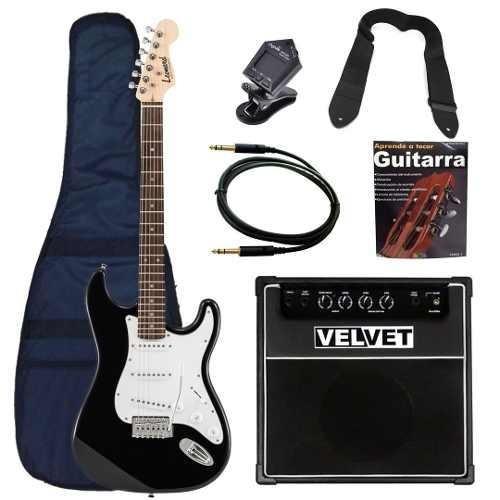 guitarra electrica stratocaster amplificador 35w funda cable