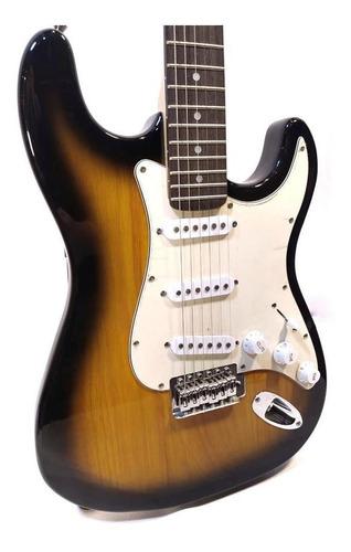 guitarra electrica stratocaster texas 3 mic simple sunburst