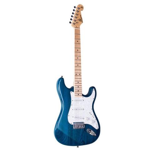 guitarra electrica sx fst/ash/tbu stratocaster