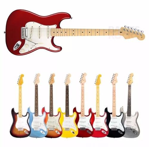 guitarra electrica texas stratocaster colores + cable yulmar