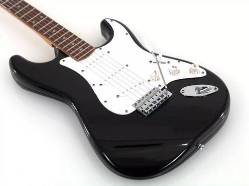guitarra eléctrica tipo strato texas eg p15 b tex black