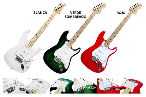 guitarra electrica tipo stratocaster modelos de lujo v.i.p