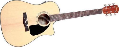 guitarra eléctro acústica fender cd-60ce con estuche rigido