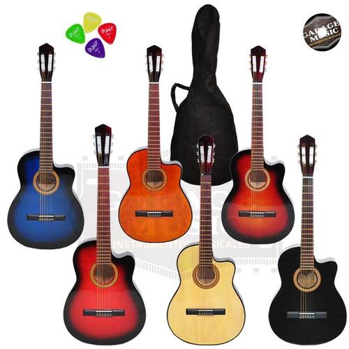 guitarra electro criolla clasica corte funda pua curso cd
