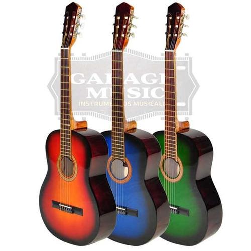 guitarra electro criolla clasica funda acolchada pua curso