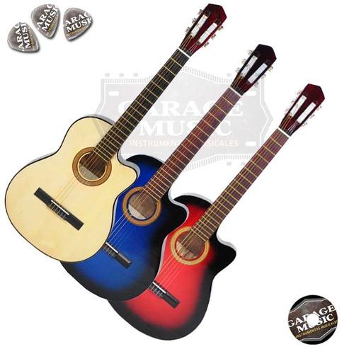 guitarra electro criolla clasica media caja corte pua curso