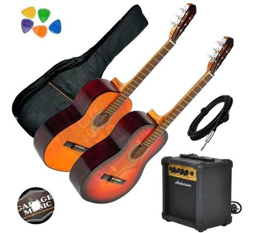 guitarra electro criolla ecualizador funda amplificador 10w