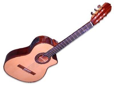 guitarra electro criolla la alpujarra - modelo 85kec