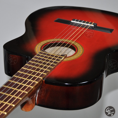 guitarra electro criolla media caja eq ampli 25w afinador