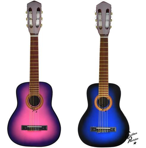 guitarra electro criolla niño mini + funda + pua + colores +