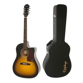 Guitarra Electroacustica + Case EpiPhone Aj-210ce Sunburst