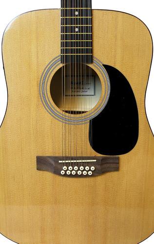 guitarra electroacústica 12 cuerdas rmc natural