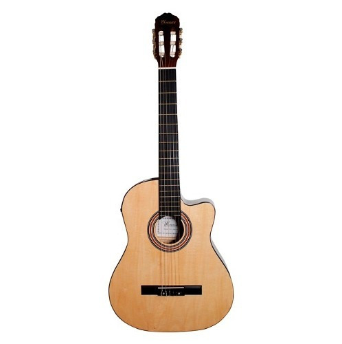 guitarra electroacústica 39  nylon mercury + funda