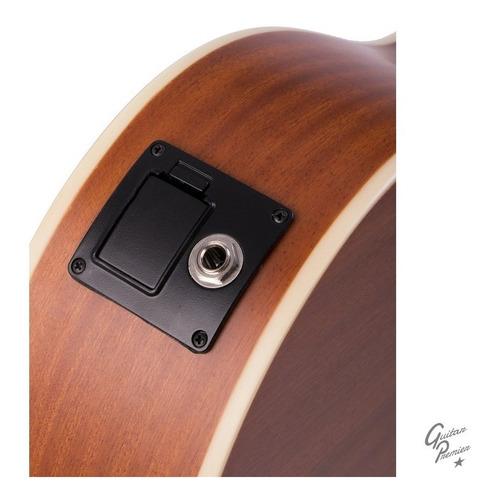 guitarra electroacustica bamboo de viaje afinador funda nat