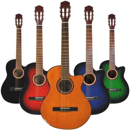 guitarra electroacustica c/ corte nylon eq 4b funda pua gtia