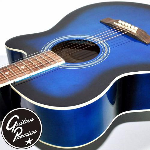 guitarra electroacustica c/ corte premium funda pua garantia