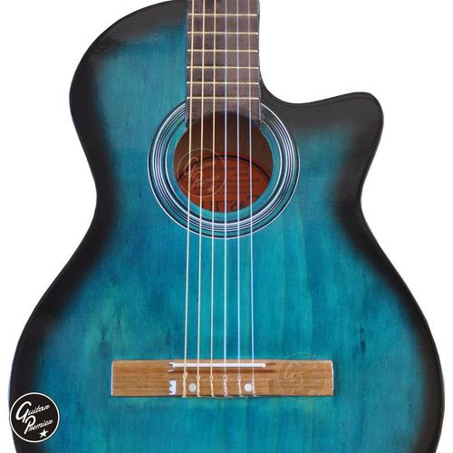guitarra electroacustica c/c nylon eq afinador + ampli laney