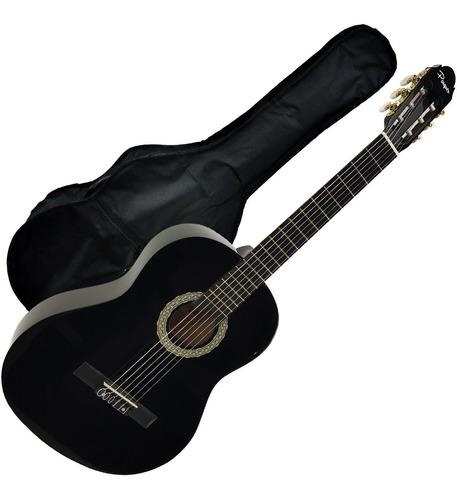 guitarra electroacustica clasica avanzada negra funda envio
