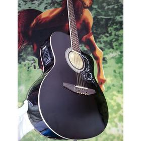 Guitarra Electroacústica Color Negrito, Marca Orphe, Nueva,