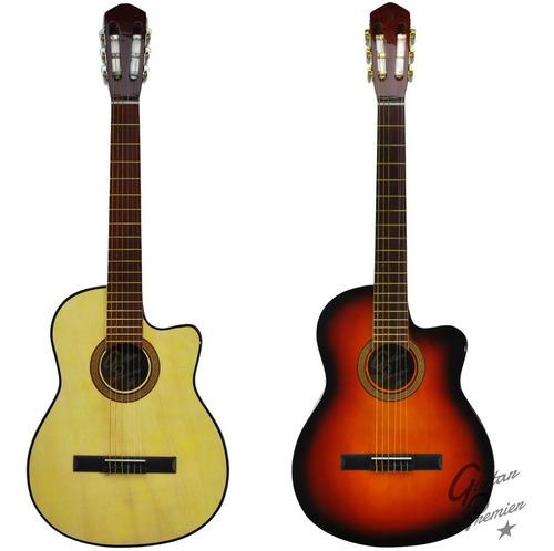 guitarra electroacustica con corte nylon + funda + pua gtia