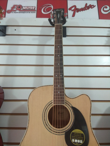 guitarra electroacústica cort ad880 caoba excelente calidad