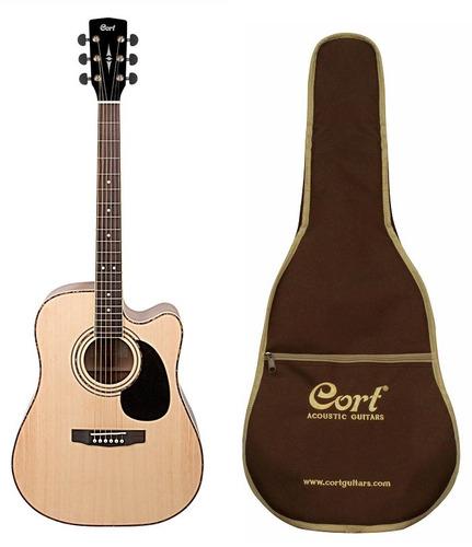guitarra electroacustica cort profesional ad880ce natural g