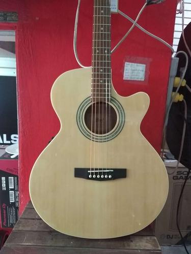 guitarra electroacustica cort sfx estuche vitela calidad