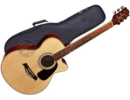 guitarra electroacustica corte ecualizador afinador shelter