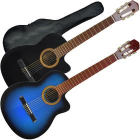Guitarra Electroacustica Criolla Corte + Funda +pua Garantia
