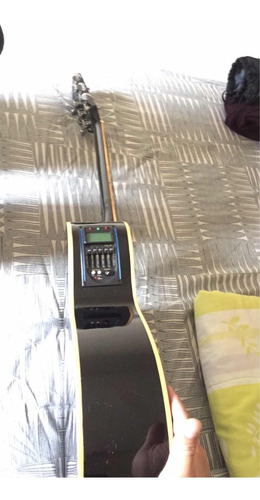 guitarra electroacustica crusader + estuche viajero