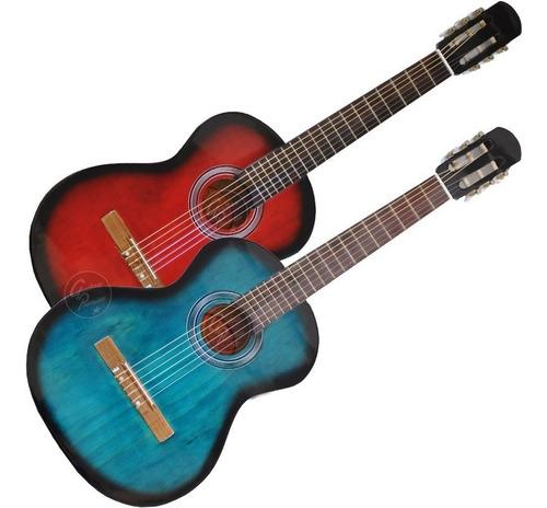 guitarra electroacustica cuerdas nylon +funda +pua +garantia