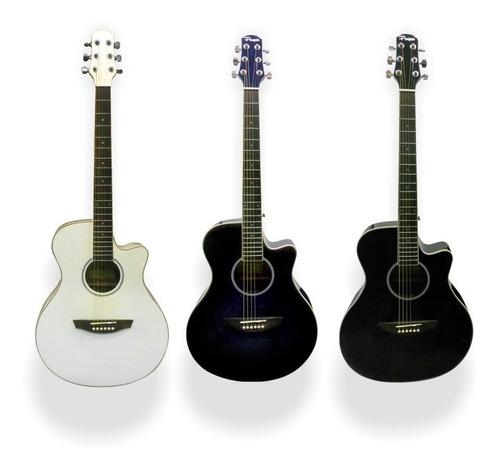 guitarra electroacústica electro acustica eq con funda y pua