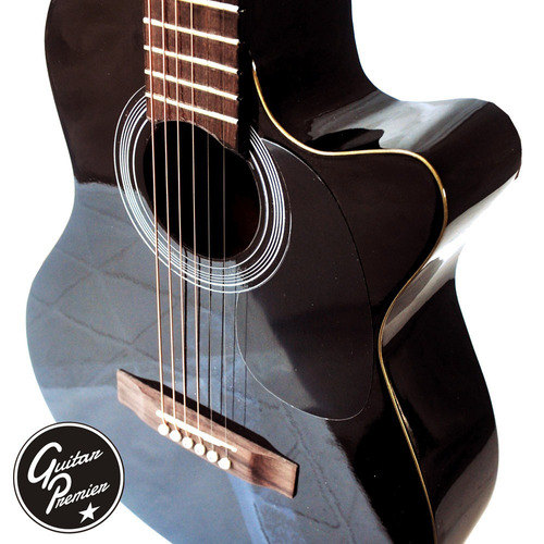 guitarra electroacustica eq2 + ampli + funda + cable + pua