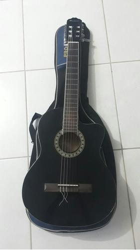 guitarra electroacústica flextone con estuche
