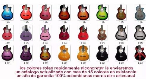 guitarra electroacústica forro púa marca aire artesanal