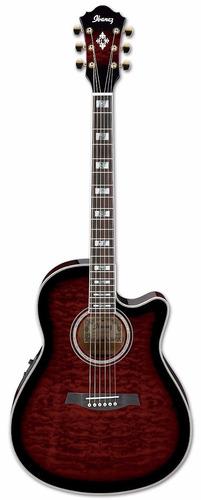guitarra electroacustica ibañez + estuche rígido skb