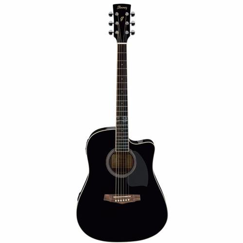 guitarra electroacústica ibanez pf15ece color negro - grey